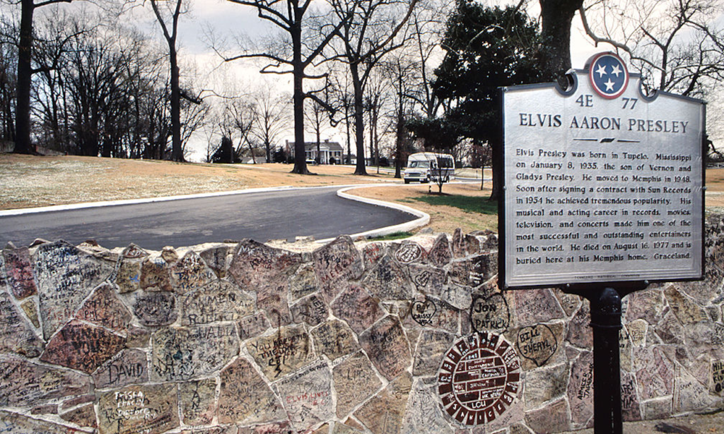 elvis-presley's-graceland-defaced-by-protestors
