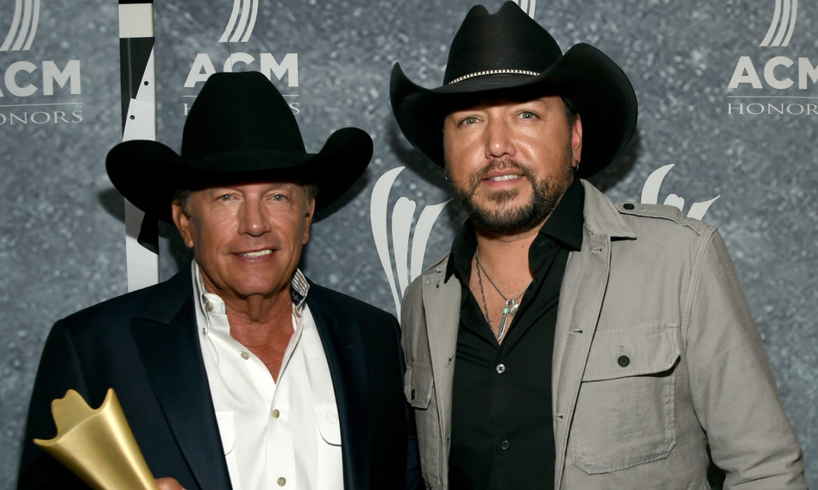 country-throwback-george-strait-performs-fool-hearted-memory-with-jason-aldean-on-cowboy-rides-away-tour
